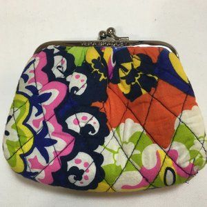 VERA BRADLEY Multi Print Quilted Double Coin Purse
